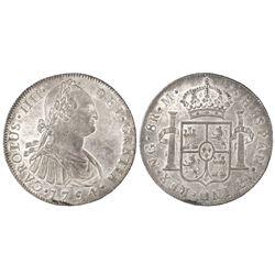 Guatemala, bust 8 reales, Charles IV, 1794M.