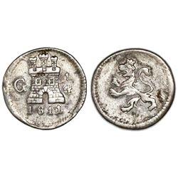Guatemala, 1/4 real, 1811/09, ex-Richard Stuart.