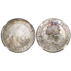 Guatemala (Central American Republic), 8 reales, 1846/2AE/MA, CREZCA/CRESCA, NGC MS 63.