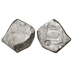 Quetzaltenango, Guatemala, 8 reales, Type I countermark (1838, rare) on pillars side of a Guatemala