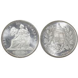 Guatemala, 1 peso, 1894, NGC MS 65.