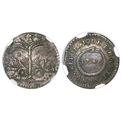 Haiti, 12 centimes, An 10 (1813), NGC XF 45.
