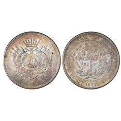 Honduras, 50 centavos, 1871, NGC MS 62.