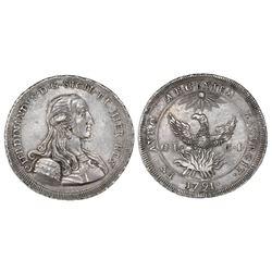 Sicily (Palermo mint), Italian States, onzia da 30 tari, Ferdinand III, 1791GL-CI.