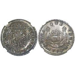 Mexico City, Mexico, pillar 2 reales, Ferdinand VI, 1752M, NGC XF 40.