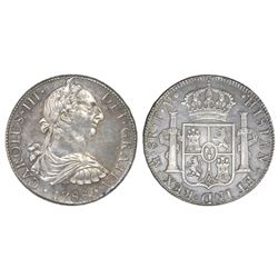 Mexico City, Mexico, bust 8 reales, Charles III, 1788FM, Bevill Plate.