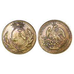 "Guanajuato, Mexico, brass 1/8 real ""octavo,"" 1857."