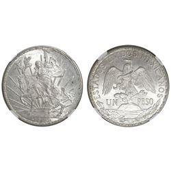 "Mexico City, Mexico, 1 peso ""Caballito,"" 1913, NGC MS 63."