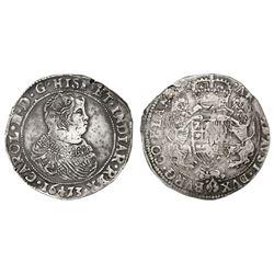 Flanders, Spanish Netherlands (Bruges mint), portrait ducatoon, Charles II, 1673.