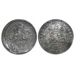 """Holland, United Netherlands, """"rider"""" double ducatoon, 1673, rare, NGC XF 45 (extra-thick slab)."""