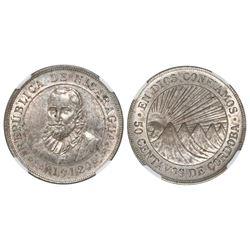 Nicaragua, 50 centavos, 1912H, NGC MS 61.