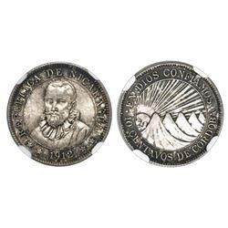 Nicaragua, 10 centavos, 1912H, NGC MS 63+.