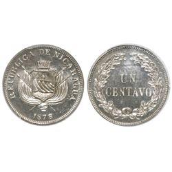 Nicaragua, 1 centavo, 1878, PCGS MS65.