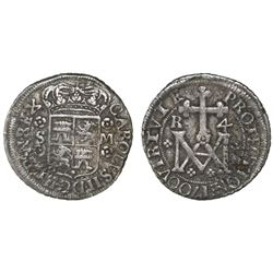 Seville, Spain, milled 4 reales ( Maria  type), Charles II, 1700M.