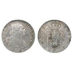 Madrid, Spain, bust 8 reales, Charles IV, 1808AI.