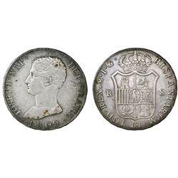 Madrid, Spain, 8 reales, Joseph Napoleon, 1809IG.