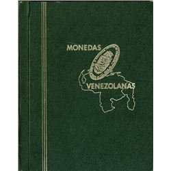 """Collection of 22 """"5 bolivares"""" (one venezolano 1876 and 21 """"GRAM 25"""" 1879-1936) in a dedicated album"""