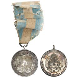 Argentina, silver military medal, (1871), War of the Triple Alliance against Paraguay.