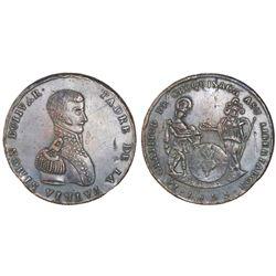 Chuquisaca (Sucre), Bolivia, large copper medal, 1825, Bolivar.