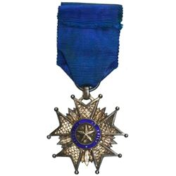 Chile, silver star cross military medal (decoration), 1881, Lima Campaign.