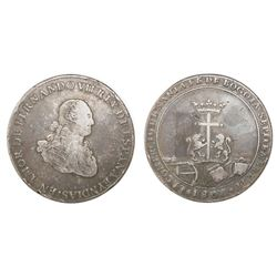Bogota, Colombia, silver proclamation medal, Ferdinand VII, 1808, from the merchant community.
