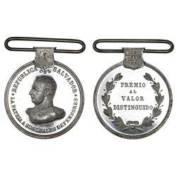 El Salvador, proof silver medal for Distinguished Valor to the Loyal Defenders of the Liberal Regime