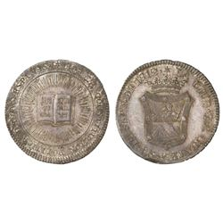 Guatemala, 2R-sized silver proclamation medal, 1812, Spanish Constitution, NGC MS 62, ex-Dana Robert