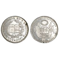 Lima, Peru, silver medal, 1826, lifetime presidency of Bolivar and invocation of Constitution, coin