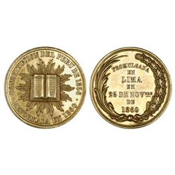 Lima, Peru, gold medal, 1860, Constitution reform.