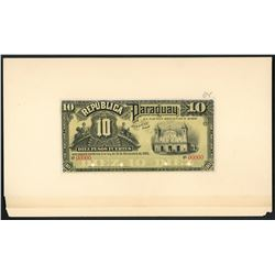 Lot of seven Paraguay, Republica del Paraguay, face proof notes, 1899-1920.