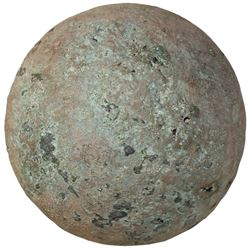 Bronze cannonball from the Capitana 1654, rare.