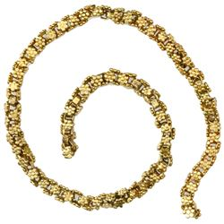 """Small piece (7"""") of gold """"olive blossom"""" chain from the 1715 Fleet."""