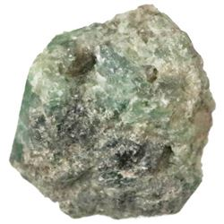 Crude natural emerald from the 1715 Fleet, 17.5 carats.