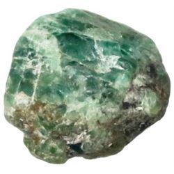 Crude natural emerald from the 1715 Fleet, 7 carats.