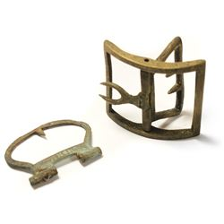 Lot of two brass buckles, one complete, from the Tilbury (1757).