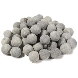 Large lot of 50 lead musketballs from the Tilbury (1757).