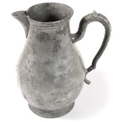 Spanish colonial pewter pitcher, ca. 1800-1820, from an unidentified early-1800s wreck.