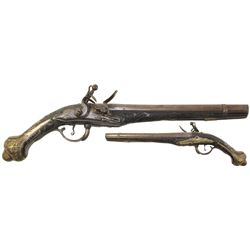Eastern European flintlock pistol, late 1700s-early 1800s.