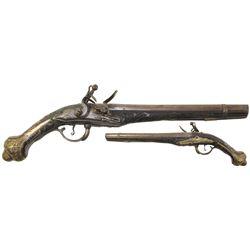 Eastern European flintlock pistol, late 1700s-early 1800s.