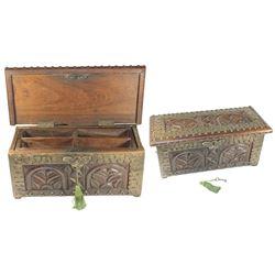 Seventeenth-century style Spanish Catalan money box, 1800s.