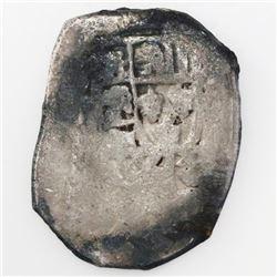 Mexico City, Mexico, cob 4 reales, Philip V, assayer not visible, ex-Treasure Salvors.