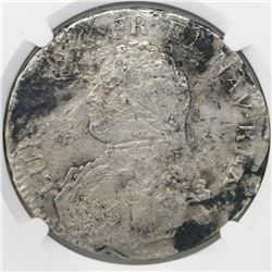 France (Metz mint), ecu, Louis XV, (1726-39)-AA, small bust, NGC genuine / La Dramadaire [sic].