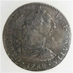 Mexico City, Mexico, bust 8 reales, Charles III, 1782FF, NGC genuine / El Cazador.