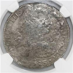 Mexico City, Mexico, bust 8 reales, Charles III, 1783FF, NGC genuine / El Cazador.