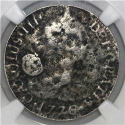 Mexico City, Mexico, bust 2 reales, Charles III, 1776FM, NGC genuine / El Cazador.