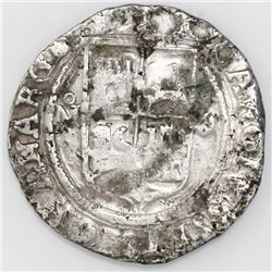 Mexico City, Mexico, 4 reales, Charles-Joanna,  Late Series,  assayer O to right, mintmark oM to lef