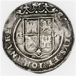 """Mexico City, Mexico, 1 real, Charles-Joanna, """"Late Series,"""" assayer G to left, mintmark M to right ("""