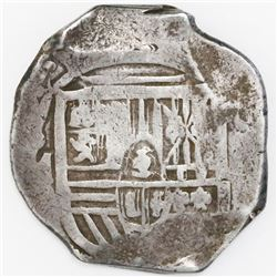 Mexico City, Mexico, cob 8 reales, Philip IV, assayer not visible (P, ca. 1650s).