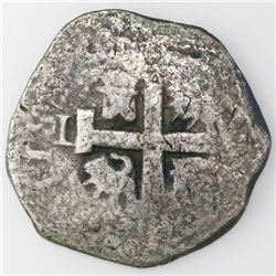Lima, Peru, cob 8 reales, 1738N.