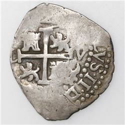 Lima, Peru, cob 2 reales, 1692V.